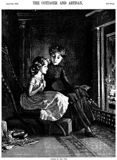 """Old Fashion Picture Book • """"Faces In The Fire"""""""