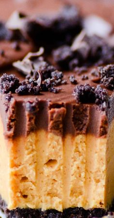 Chocolate Peanut Butter Pie With Chocolate Ganache.
