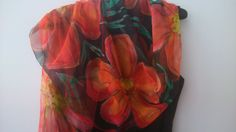 Hand Painted Poppies on Black Chiffon Scarf. Wearable Art, Wrap Shawl Hand Painted. Luxury Floral Art Chiffon Scarf 18x71 in. Gift for Her by SilkLetters on Etsy https://www.etsy.com/au/listing/268857008/hand-painted-poppies-on-black-chiffon