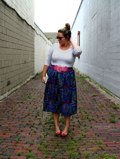 In Kinsey's Closet| Pattern mixing with stripes and a funky 90s print
