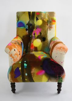 Graffiti Stripe Armchair