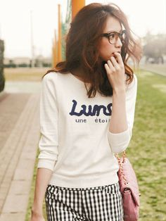 Apuweiser-riche 綿カシミヤロゴニット / casual & chic sweatshirt on ShopStyle