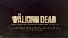 The Walking Dead: A Creative 4 week Halloween-themed Bible study for Youth. Dry Bones (Ezekiel 37:1-14); Bewitched (1 Samuel 28:3-25); The Mummy (John 11:1-44); Coming Alive (Matthew 27:45-54)
