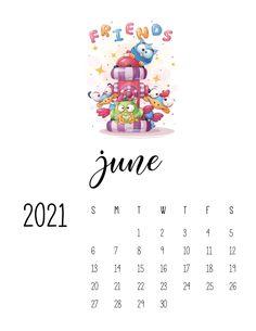 Cool Calendars, Cute Calendar, Print Calendar, Calendar Design, 2021 Calendar, Monthly Calendars, Monthly Planner Printable, Printable Calendar Template, Happy Animals