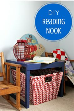 Create a special space for the kids to read & keep from losing their library books!