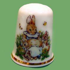 English porcelain thimble Beatrix Potter by LeClosdesLavandes