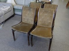 SALE NOW ON!! Set of 4 Chairs For Restoration & Upholstery Project, £40 (PC346)