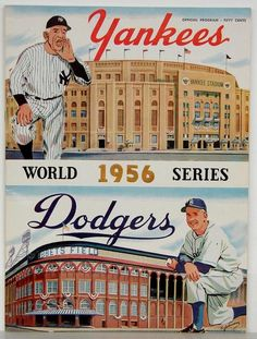 World Series program - Yankees vs. Dodgers, 1956