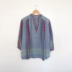 SOLD LISTING vintage cotton hippie blouse by SUMMERofGEORGE, $100.00