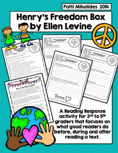 Henrys Freedom Box By Ellen Levine Reading Response Activity For 3rd 5th Graders From My