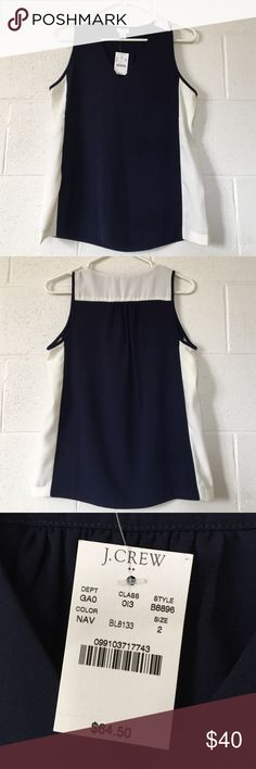 J. Crew Sleeveless Top Brand new with tags sleeveless top by J. Crew. Original price - $64.50. J. Crew Tops Tank Tops
