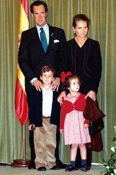Jaime Marichalar Saenz de Tejada, Duke of Lugo; H.R.H. Infanta Elena of Spain, Duchess of Lugo, Felipe Froilan Marichalar de Borbon and Victoria Marichalar de Borbon