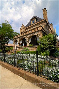 Stately stone mansion, currently a B&B on Pittsburgh's North Side