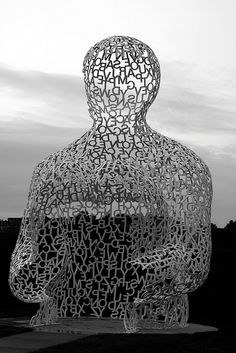 'Nomade,' created by Spanish sculptor  Jaume Piensa for the Pappajohn Sculpture Park in Des Moines, Iowa. 'Nomade'' is three-stories tall and was donated to the park from the private collection of John and Mary Pappajohns. Originally, Nomade debuted in the Musee Riviera where the Pappajohns where it was purchased by the Pappajohns. (photo and tag. Carol VanHook/flickr. September 2009)