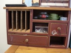 Wooden Organizer Shelves and Drawer Mail Slots by UrthGypsyVintage, $100.00