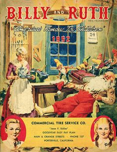 Billy and Ruth Christmas Toy Catalog from Commercial Tire Service Company, Porterville, California, 1952