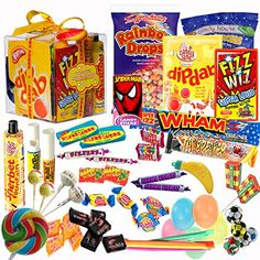 The Original Retro Sweets Gift Cube Box From Dandy Candy - The Perfect Gift For Everyone: Includes 70 Retro Sweets From Your Childhood Memories - Great Stocking Filler or Christmas Gift Dandy Candy http://www.amazon.co.uk/dp/B0049BKO2U/ref=cm_sw_r_pi_dp_UBuzub0Y6X5C5