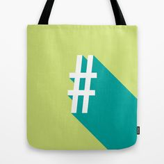Vibrant Hashtag Tote Bag by OddMatter - $22.00