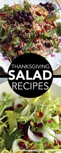 Our collection of refreshing salad recipes includes choices that work as first-course appetizers or as Thanksgiving sides. In addition to lettuce-based green salads, you'll find dishes centered around green beans, wild rice, and root vegetables. This warm, light, and healthy salad is a great addition to a Thanksgiving feast.