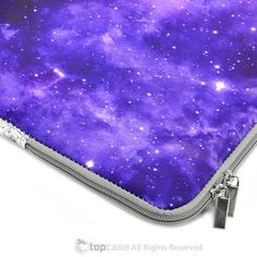 """Purple Galaxy Graphic Zipper Sleeve Bag Case for All Laptop 13"""" 13-inch Macbook Pro with or without Retina Display / Macbook Air / Macbook Unibody / Ultrabook / Chromebook"""