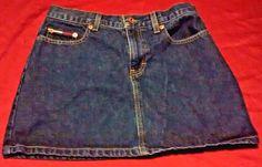 Tommy Jeans Blue Denim Mini Skirt Juniors Women's Size 7 100% Cotton #TommyHilfiger #Mini