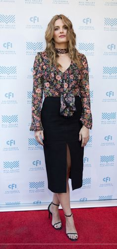 Stana Katic at the world premiere of the movie 'The Rendezvous' at the Mill Valley Film Festival - Oct. 8, 2016