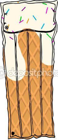 Матрас мороженого — Стоковое векторное изображение © Katerinastrofa #blog #candy #color #colorful #fashion #hot  #pictures #summer #top #vector  #watercolor #accessories #apparel #casual #design #fabric #grunge #illustration #lifestyle #men #modern #object #popularly #street #style #teenage #trendy #trial #women #funny #icecream #mattress #pool