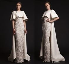 Luxury Krikor Jabotian Long Evening Dresses With Cape Beaded Appliques Elegant Evening Gowns Formal Red Carpet Dresses Evening Wear Cheap Evening Black Dresses Evening Dress Sewing Patterns From Weddingplanning, $275.38| Dhgate.Com
