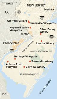 New Jersey Wineries, Like Auburn Road and Bellview - NYTimes.com