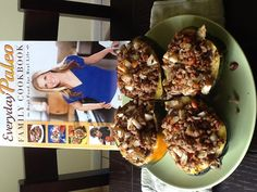 Pear & Ground Pork Stuffed in Summer Squash  Everyday Paleo Family Cookbook Page 114