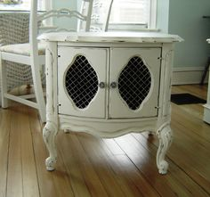 Vintage Shabby Chic Furniture End Table by seasidefurnitureshop, $160.00