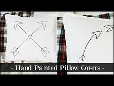 Happy At Home: Hand-Painted Pillow Covers