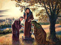"""Forsake all and seek ye the Kingdom of God"" (Jacob, Rachel and Leah) by artist Megan Rieker"