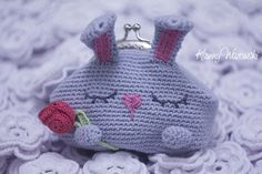 #Crocheting #purse for coin #Bunny