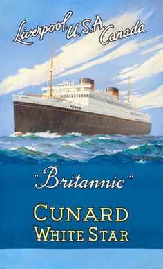 Brown, Samuel M. Britannic Cunard White Star - Liverpool USA Canada, 1935