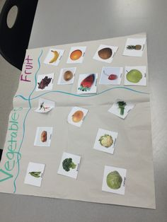 Fruit/Vegetable sort Math