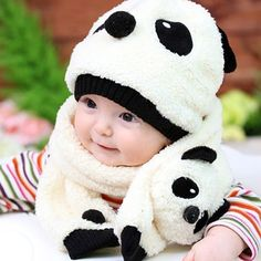 This warm and cute #hat and #scarf set is essential to toddler girls in such a cold winter. Made from fleece fabric, the hat and scarf set feels soft, comfortable and cozy. The cute and fashionable design will make the kids look more lovely. Above all it is very warm and kids will love it.