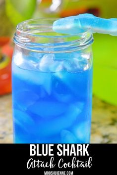 You can jazz up with a good Shark Week drinking game or a Blue Shark Attack Cocktail. Blue Shark Attack Cocktail contains rum, pineapple juice, blue curacao, and gummy blue sharks. via Jenne Kopalek alcohol recipes Blue Curacao Drinks, Blue Drinks, Blue Cocktails, Cocktail Drinks, Beach Cocktails, Cocktail Recipes, Mixed Drinks With Vodka, Popular Mixed Drinks, Cocktail Ideas