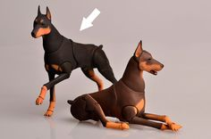 BJD dog Doberman. Scale 1/9 8 cm at the withers. by ElleoDolls Polymer Clay Animals, Cute Polymer Clay, Sculpture, Animation, Doll Repaint, Doll Maker, Dog Paintings, Ball Jointed Dolls, Bjd Dolls