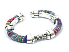 gorgeous women ethnic bracelet * boho bracelet * red fabric bracelet * pink woven bracelet * surfer bracelet * boho jewelry by CozyDetailz on Etsy