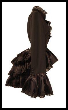 Steampunk corset bustle jacket 1