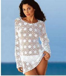Beginner crochet pattern Plus size sexy Trendy plus size clothing Plus size beach tunic Plus size dresses