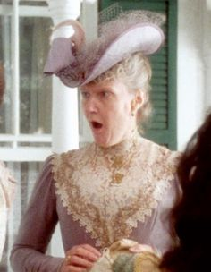 Mrs. Rachel Lynde (Patricia Hamilton) from Anne of Green Gables...such a nosy, old lady! Loved her!
