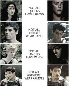 not all queens have crowns || not all heroes wear capes || not all angels have wings || not all warriors wear armour