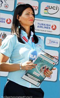 Podium Girl with programme