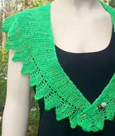 I like how this Shawlette is wonderful for Spring.