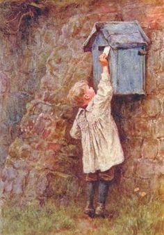 Child Posting A Letter ~ Helen Allingham ~ (English 1848-1926)