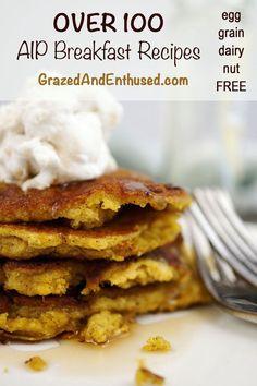 100+ AIP Breakfast Recipes Paleo round-up grazedandenthused...