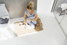 Kaunis uusi matto tekee kylpyhuoneesta ihan uuden!