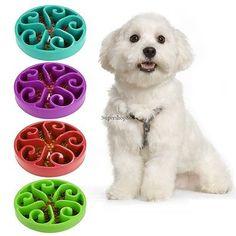 Puppy Pet Slow Down Eating Feeder Dish Dog Cat Feeding Food Dish Bowl SO6H